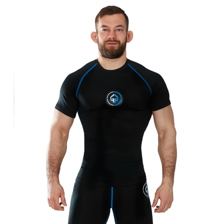 Rashguard Ground Game Short Sleeve Athletic Black