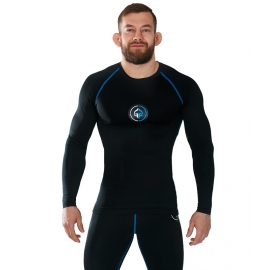Rashguard Ground Game Manga Larga Athletic Negro