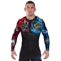 Camiseta Rashguard Ground Game Bushido II Negro