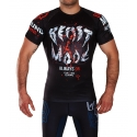 Short Sleeve Rashguard T-Shirt Ground Game Beast Mode