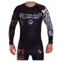 Rashguard Ground Game T-Shirt Black Turtle