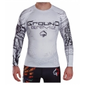 Rashguard Ground Game T-Shirt White Tiger