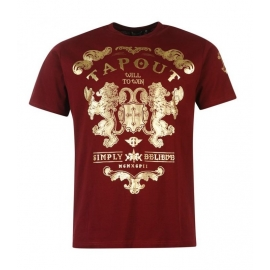 Camiseta Tapout Burdeos ¨Simply Believe¨