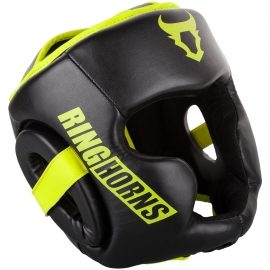 Ringhorns Charger Black/Yellow Neon Boxing Helmet By Venum