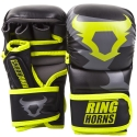 MMA Gloves Sparring Ringhorns Charger Black / Yellow Neon By Venum