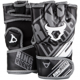 Ringhorns Nitro Black/Gray/White MMA Gloves By Venum