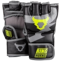 Ringhorns Charger Black/Yellow Neon MMA Gloves By Venum