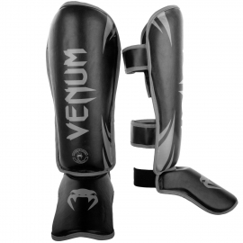 Venum Challenger Shin Guards for Black/Gray Kick Boxing