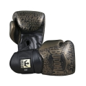 Golden Premium Leather Boxing Gloves