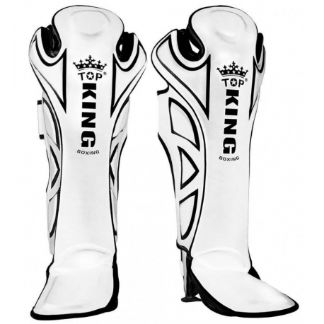 Shin Guards Top King White Super