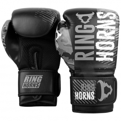 Ringhorns Charger Camo Grey Boxing Gloves By Venum