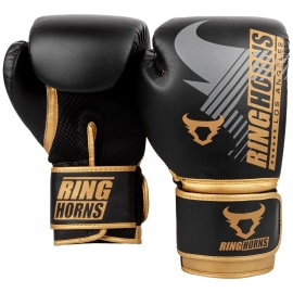 Ringhorns Charger MX Black/Golden Boxing Gloves By Venum