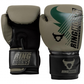 Ringhorns Charger MX Black/Green Boxing Gloves By Venum