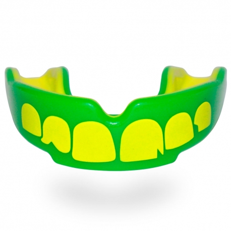 Protector Bucal Fit Ogro Verde-Amarillo Kids