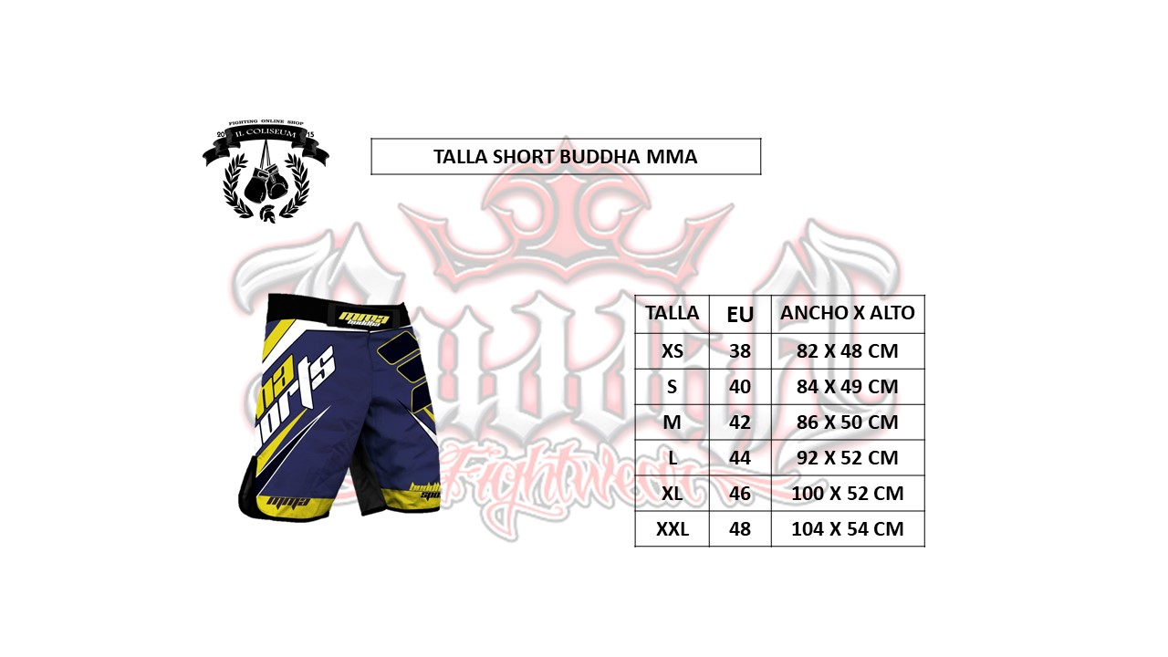 Tabla de Tallas de Shorts-mma Buddha